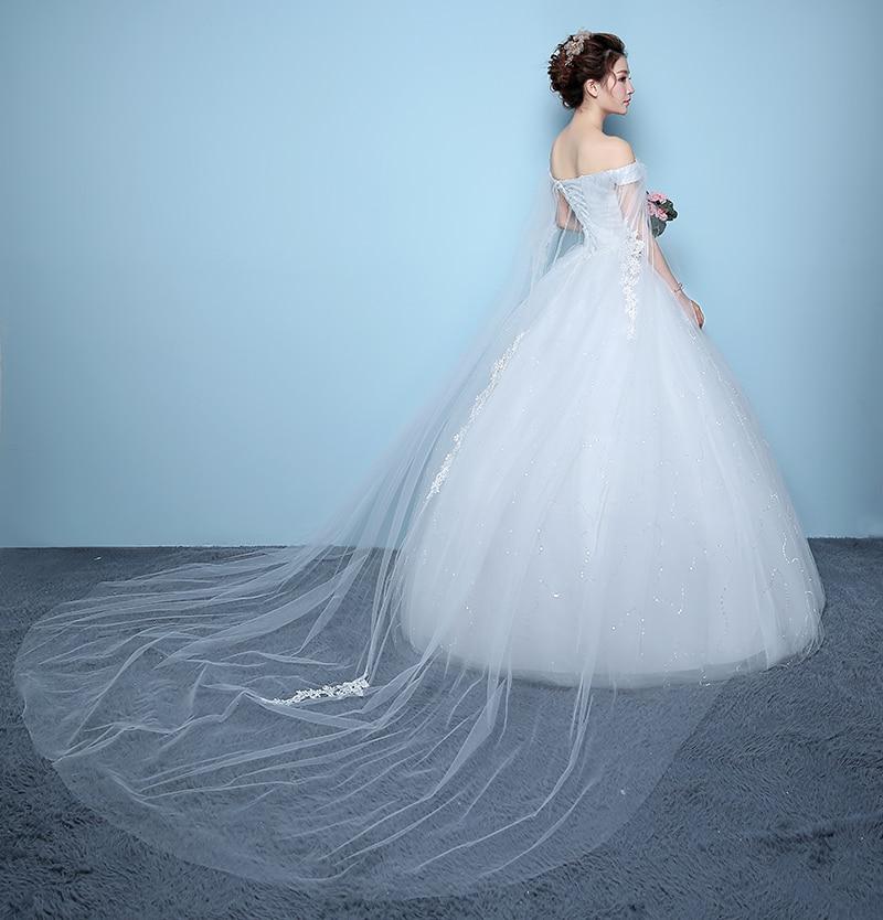 Cheap Double Shoulder Lace Up Ball Wedding Dresses Sweetheart Vintage Plus Size Bridal Dress Wedding Gown pakaian pengantin