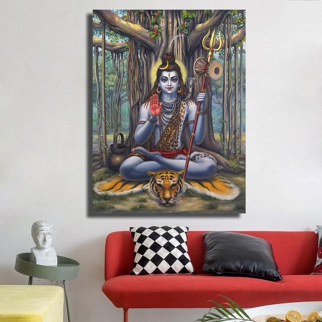 qkart wandbilder poster und druckt wand dekor rahmenlose herr shiva olgemalde fur wohnzimmer schlafzimmer