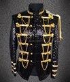 Masculino paillette trajes de roupas Plus size moda discoteca bar cantor dança blazer jaqueta de desempenho