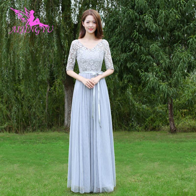 AIJINGYU 2018 hot women's gown prom   dress   plus size   bridesmaid     dress   BN592