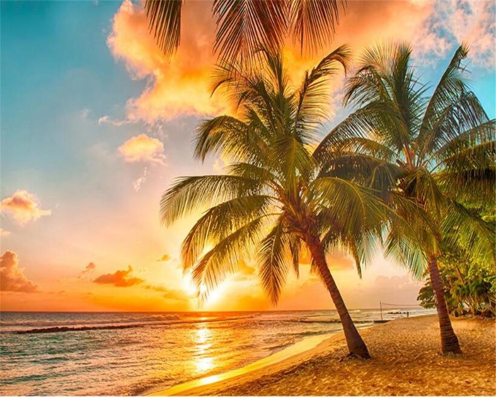 3D Background Desktop Beach Sunset