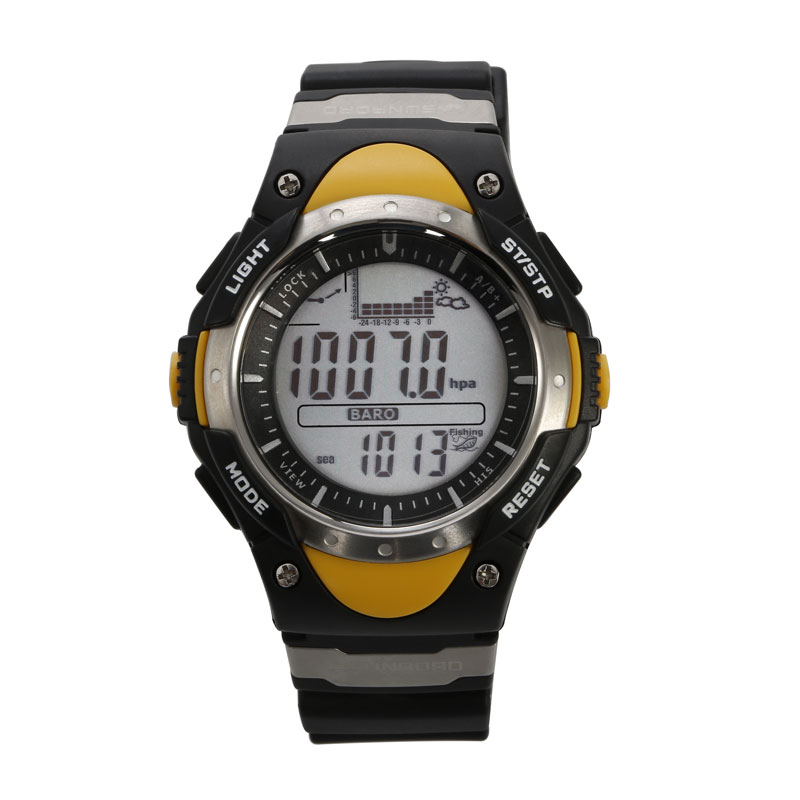 SUNROAD Fishing Barometer Men Watch FR716 Digital Altimeter Watches Thermometer Weather Forecast LCD font b Display