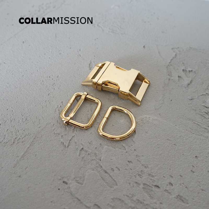 20sets lot metal buckle adjust buckle D ring set DIY dog collar 25mm webbing accessory Zinc