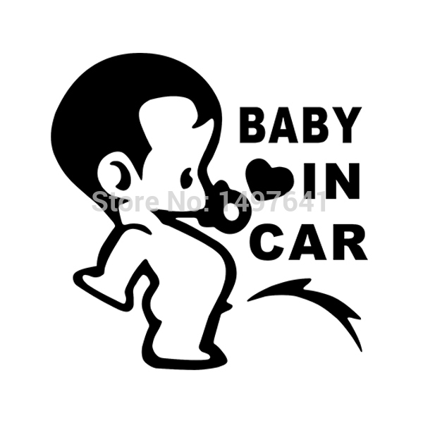 Lovely Funny JDM Child Boys Baby In Car On Board Car Sticker For Window Glass Truck Bumper Camping Cute Vinyl Decal car styling