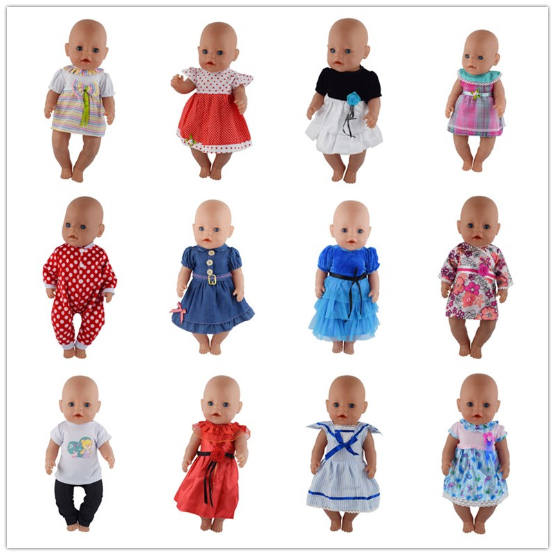 Doll Dress Fit For 43cm Baby Born Zapf Doll Reborn Babies Clothes And 17inch Doll Accessories цена