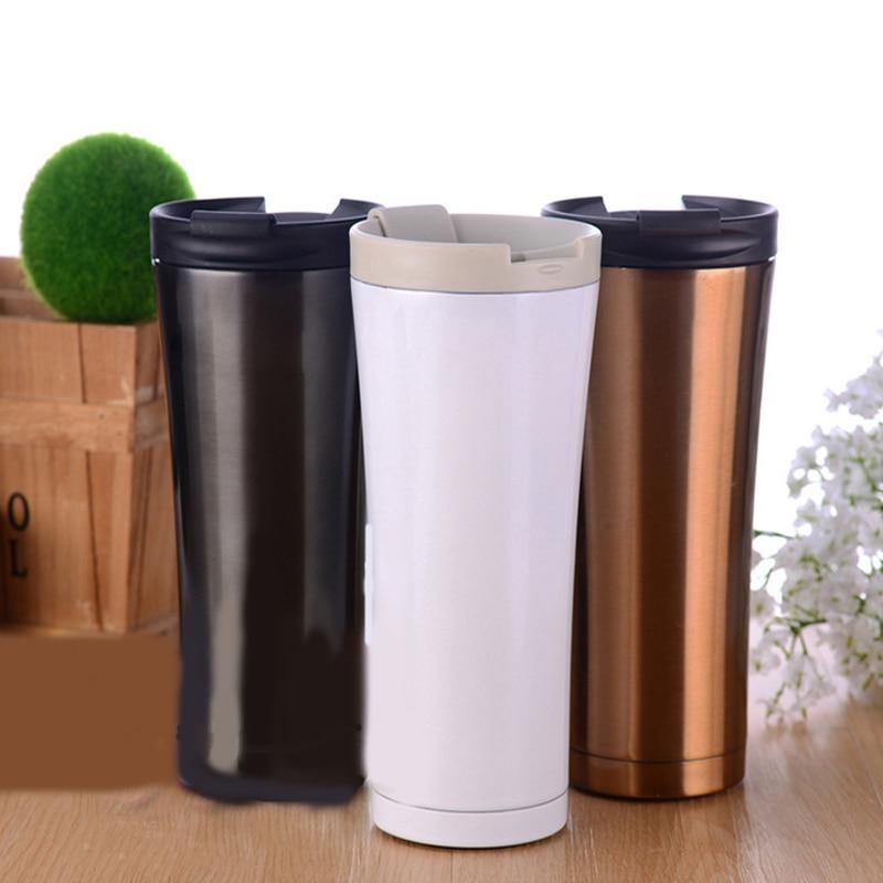 Thermos Bottle 500ML Mug Pour Voiture Sports Garrafa Termica Inox Copo Termico Stainless Steel Insulation Cup