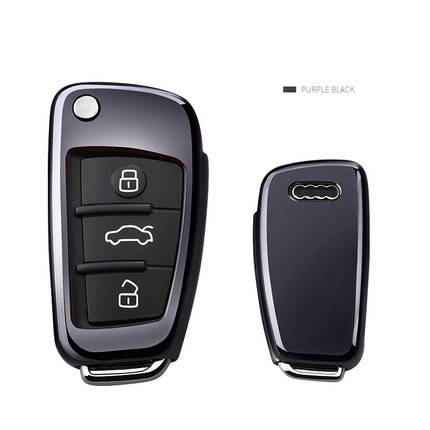 Car Key Covers TPU Key Case Fob Shell For AUDI A1A4A3A6 TT Q3 Q7 S3 Anti-drop Protection Holder Car-Styling Car Accessories