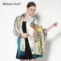 Novo 2016 cachecol pesado padrão pavão único cachecol mulheres pashmina