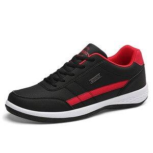 Image 2 - Moda erkek spor ayakkabı erkekler rahat ayakkabılar nefes Lace up erkek rahat ayakkabılar bahar deri ayakkabı erkekler chaussure homme