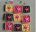 Hot sale! 20*20mm MIX color Resin Square Love Cake biscuits flat back cabochon decor children's diy hair accessories  XMAS gift