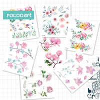 Rocooart Latest FC Series 2019 Beauty Water Color Tattoo   Various patterns of flower tattoo Body Temporary Fake Tattoo Sticker.