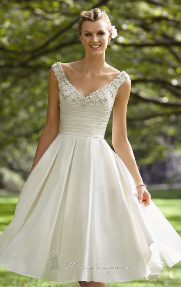Aliexpress.com : Buy Simple Luxury Wedding Dresses for sale V Neck ...