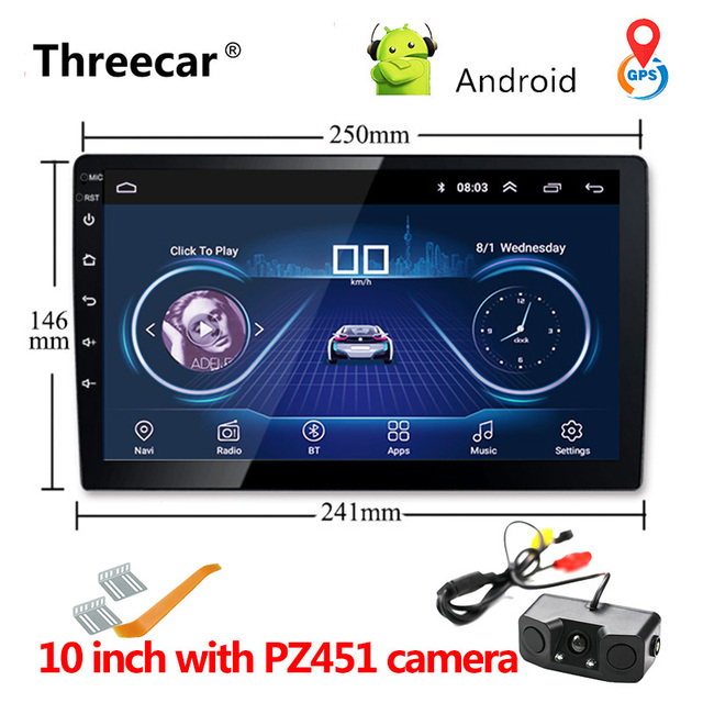 Universal 9'' 10'' Car Android 8.1 Multimedia Player Quad Core 2 din radio GPS navigation Wifi Bluetooth Audio car stereo 2din