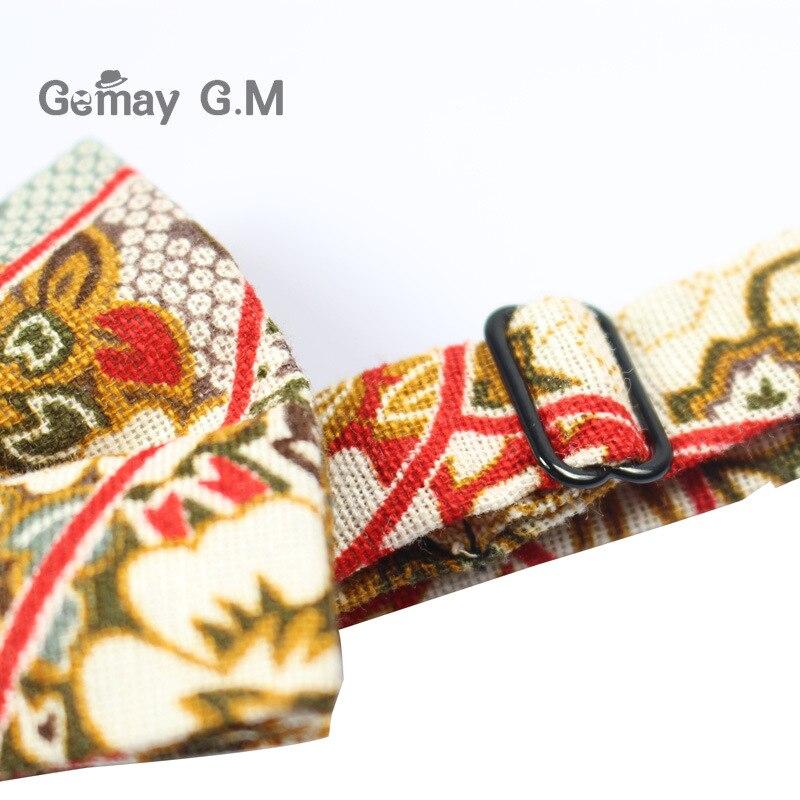 Këpucë pambuku zyrtare të rregullueshme, kravatë Vintage me lule - Aksesorë veshjesh - Foto 5
