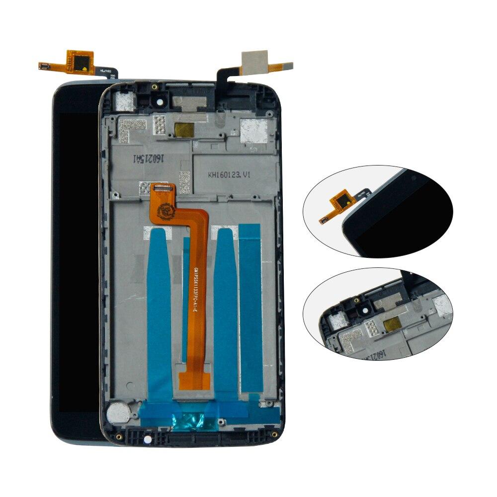 Para Alcatel One Touch Idol 3 5,5 6045 OT-6045 6045 K 6045Y MONTAJE DE digitalizador de pantalla LCD con marco