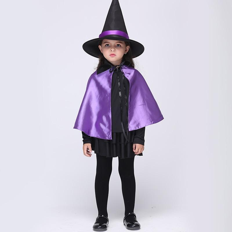 Baby Girl Dress Set Cosplay Halloween Witch Performance Dress Set - Ropa de ninos