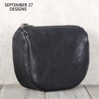 New Coin Purses Women First Layer Leather Fashion Small Wallets Handmade Soft Sheepskin Coin Pouch Credit Card Purse Key Bag