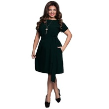 2017 Stylish Casual Women Dresses Large Size Women's Summer Mini Dresses Short Sleeve Dress