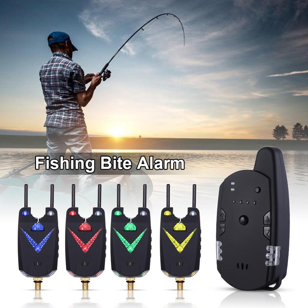 JY-59 alarme de morsure de pêche sans fil canne à pêche échangistes illuminés ensemble d'alerte de barre Anti-arrêt pour la pêche de la carpe