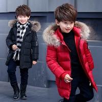 Boys Winter Jackets Children Cotton padded Parkas Teenager Hooded Coats Kids Warm Jacket Thicken Winter Fur Collar Outwear