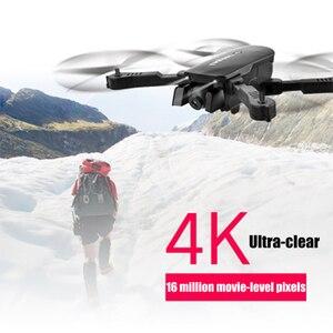 Image 3 - R8 drone avec caméra aérienne 4K HD quadrirotor, hoover à flux optique, double caméra, hélicoptère télécommandé avec télécommande