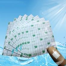 100 개/몫 의료 투명 테이프 pu 필름 접착제 석고 방수 안티 알레르기 약용 상처 드레싱 고정 테이프