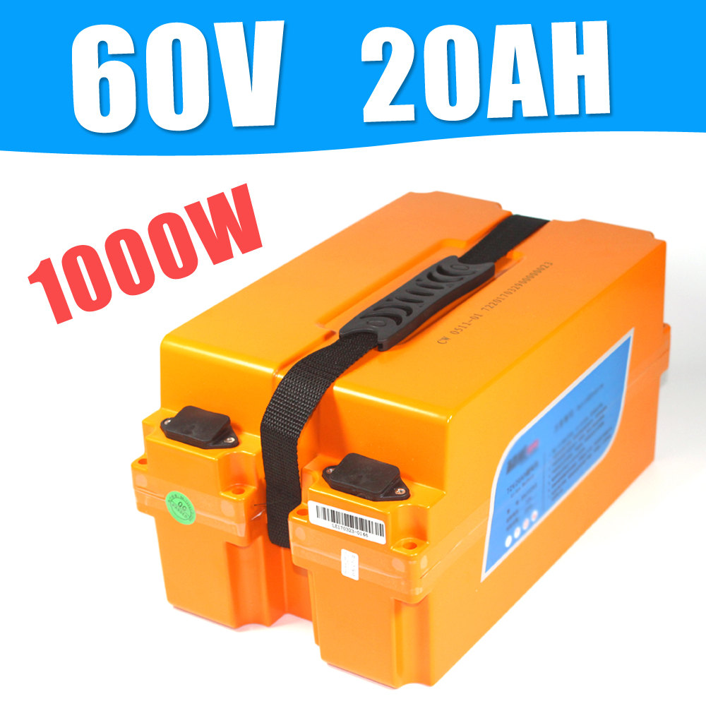 60V 20AH Lithium Rechargeable Battery 60V 20Ah Electric Bike Battery factory direct price 60v 60ah diy rechargeable lithium ion battery powered 3000w electric chopper bike