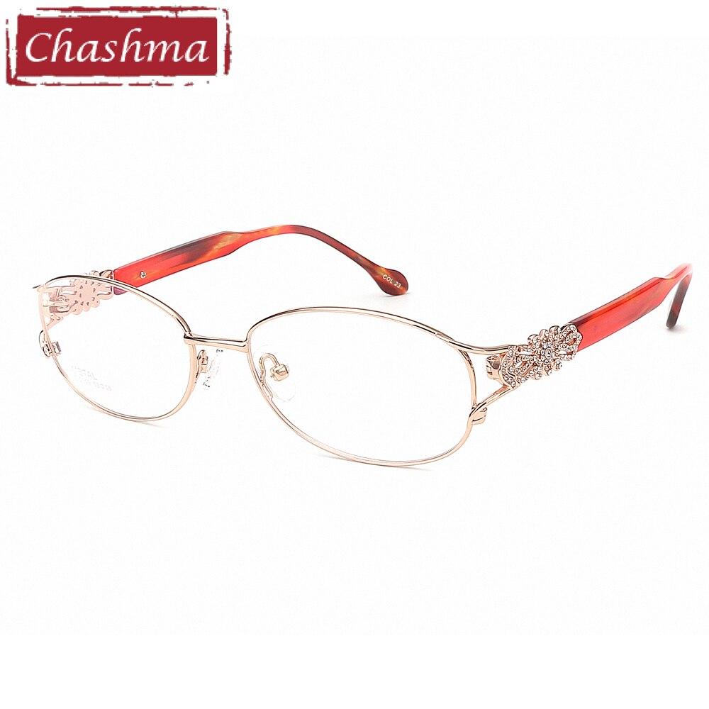 Chashma Moda Telaio In Titanio Puro Lentes Opticos Gafas Top Telai In Titanio di Qualità Luce Occhiali Da Vista Occhiali di Strass Donne
