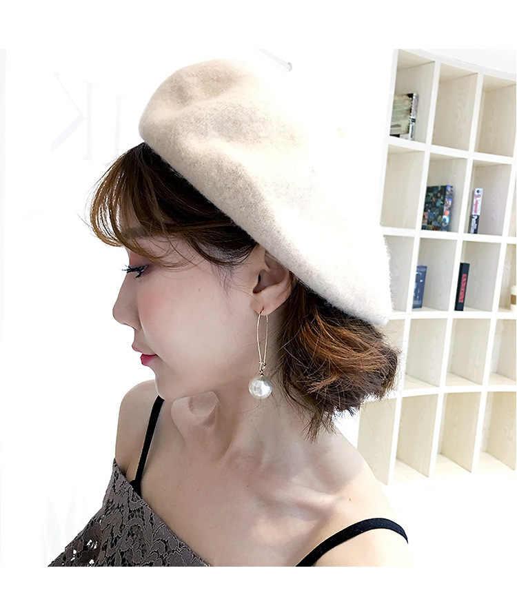 קוריאה פשוט נטו אדום פראי קריסטל חיקוי פרל עגילי תכשיטי ארוך באיכות גבוהה טמפרמנט עגילים לנשים Brincos