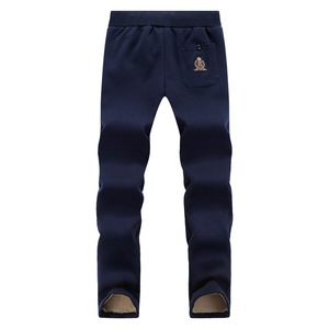 Image 5 - YIHUAHOO חורף מכנסיים גברים 6XL 7XL 8XL מזדמן עבה פרווה בטנה חם מכנסי טרנינג צמר אלסטי מכנסיים הסווטשרט מסלול מכנסיים PYS 867