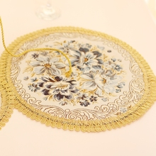 American European style western food mat placemat for dining table heat insulation pad tea cup  flower vase Mat