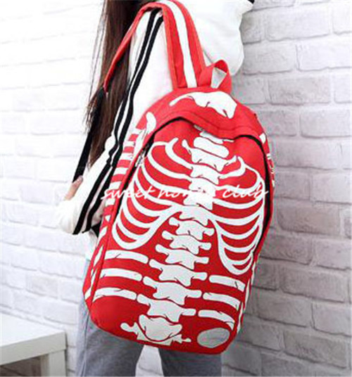 1f778af8a65 ... dirt cheap 2ccd2 b582f Cool personality skull printing backpack unisex school  bag for teenagers girl boy ...