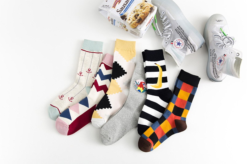 1 Pairs Fashion Men/'s Cotton Socks Solid color socks warm British style business