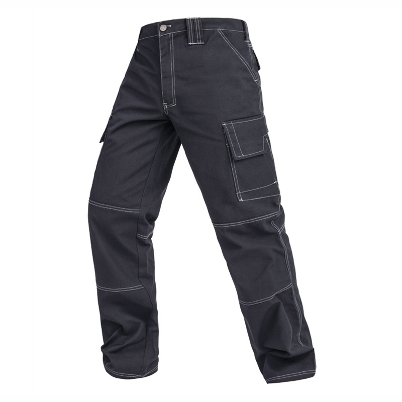 все цены на Men working pants multi-functional pockets work tool trousers high quality wear-resistant worker mechanic cargo pants work wear