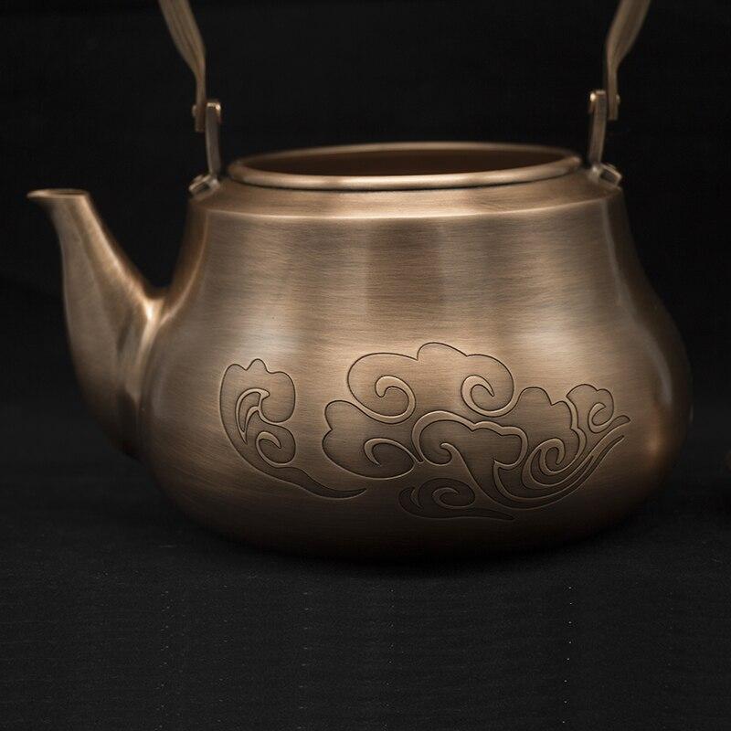 1,2L Handmade Red Copper Teapot 4
