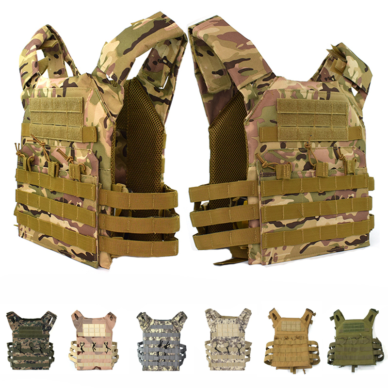 Hunting Tactical Accessories Body Armor Vest JPC Simple Version Plate Carrier Vest Multicam Ammo Magazine Airsoft Vest