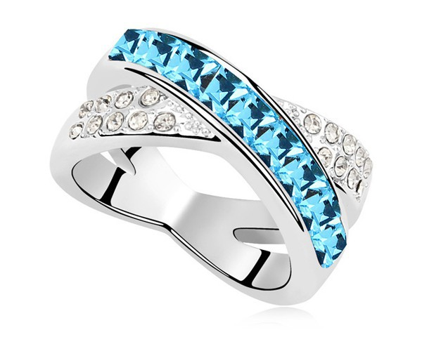 2 Option Crystal Love Meaning Ring Wife Husband Love Forever