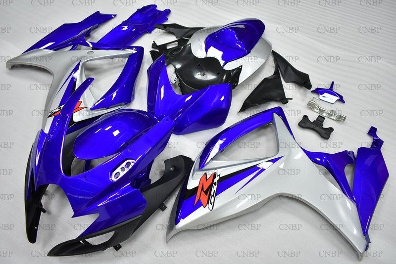 <font><b>GSXR</b></font> 750 2006 <font><b>Fairings</b></font> <font><b>GSXR</b></font> <font><b>600</b></font> 2006 - <font><b>2007</b></font> K6 Blue White Black <font><b>Fairings</b></font> GSXR600 06 Body <font><b>Kits</b></font> image