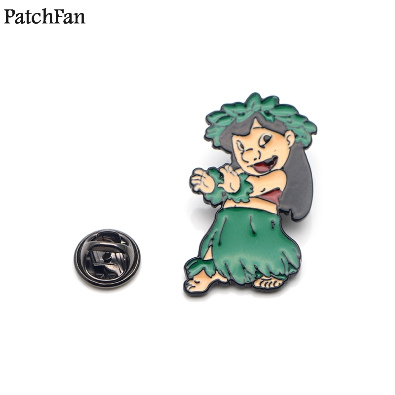 Home & Garden Apparel Sewing & Fabric Kind-Hearted 20pcs/lot Patchfan Stitch Lilo Cartoon Cute Movie Zinc Tie Pins Backpack Clothes Brooches For Men Women Hat Badges Medals A1729