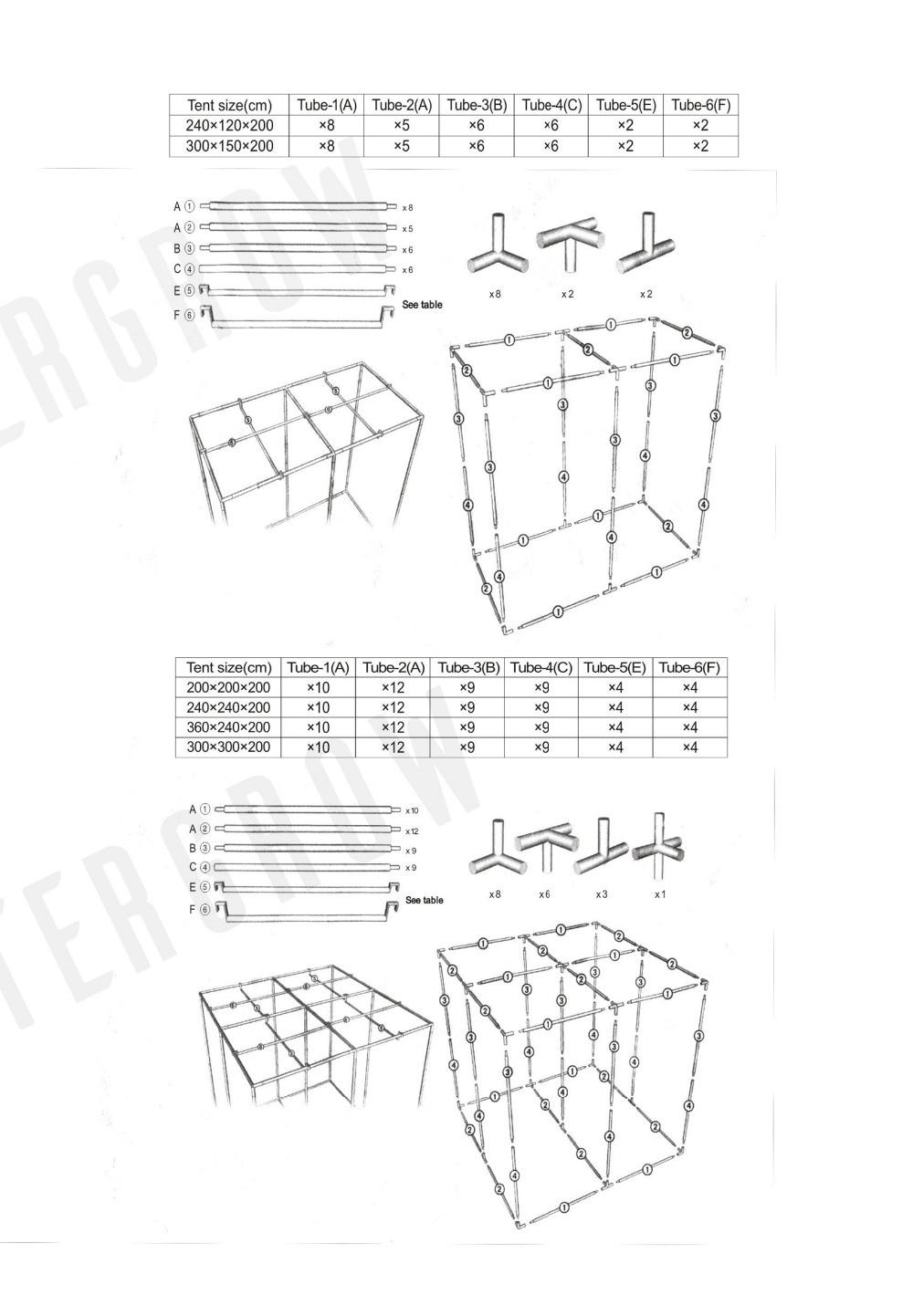 Mastergrow 100x100x200cm Indoor Hydroponics Grow Tentgrow Room Box X10 Wiring Diagram 4 5 6
