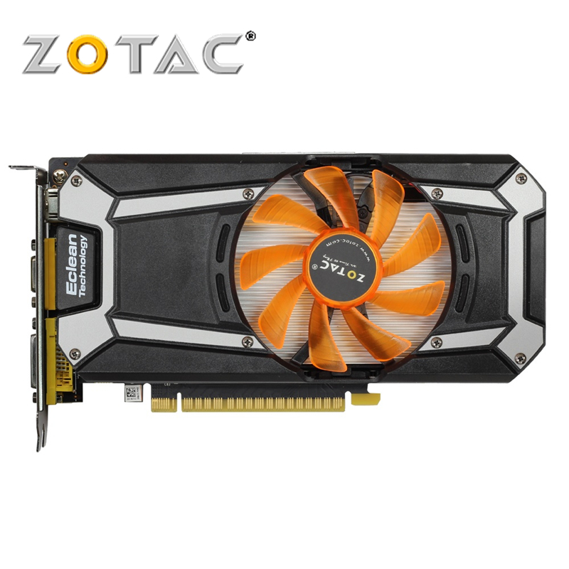 ZOTAC Video Card GeForce GTX 750 Ti 2GB 128Bit GDDR5 Graphics Cards for nVIDIA Original GTX750Ti GTX 750Ti 2GD5 Hdmi Dvi VGA видеокарта asus geforce gtx 1060 1620mhz pci e 3 0 6144mb 8208mhz 192 bit dvi hdmi hdcp rog strix gtx1060 o6g gaming