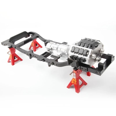 D1RC RC Crawler V8 RC Engine Giant Engine Gearbox three speed Gearbox Crawler Simulation Gearbox For