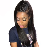 360 Lace Frontal Wig Pre Plucked With Baby Hair Brazilian Lace Front Human Hair Wigs For Women Straight Black Ever Beauty Remy
