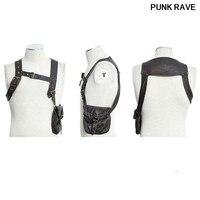 Steampunk Fashion Harness Faux Leather Men T shirt Vest Gothic Victorian Single Brown Single Poket Bag T Shirt Punk Rave S 171