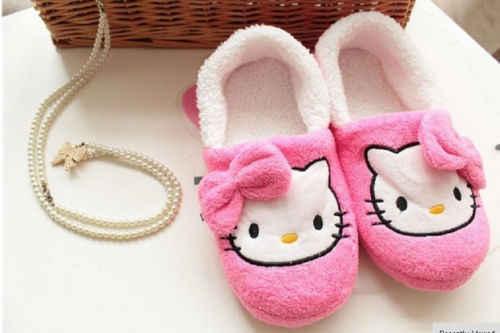 Novo Vencedor Olá Kitty Sapatos Mulheres magras luz chinelos em casa sapatos casa De Pelúcia yey-9101