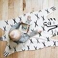 2017 Venda Quente 114*66 cm Acolchoado Tapetes de Jogo Do Bebê Tigre Animais Tapete Tapete Rastejando Cobertor Acolchoado Jogos de Corrida Decoração do Quarto dos miúdos