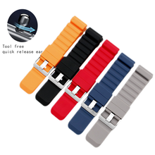 Rubber Watchband for Suunto 9/Ambit 3 Vertical/Spartan Sport HR Quick Release Strap Watch Band Steel Clasp Belt часы suunto suunto ambit 3 vertical hr синий