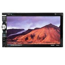 """6063B Universal 2 Din Car DVD player 6.95 """"carro Autoradio Vídeo/MP5 Player Multimídia mp4 Som Do Carro de áudio player do carro DVD"""