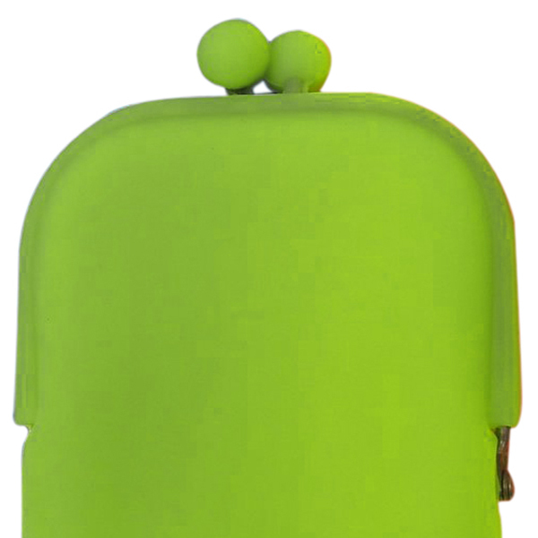 Wholesale 5* ( style Silicone Cosmetic Makeup Bag Coin Purses Wallet Cellphone Bag green