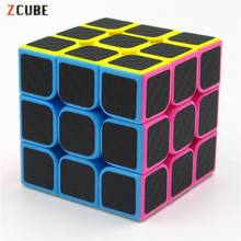 3x3x3 Zcube Carbon Fiber Sticker Magic Cube Puzzle Cubes Speed Cubo Square Puzzle Gifts Educational Toys for Children